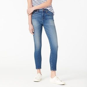 """J. Crew 9"""" high-rise toothpick jean in Kent wash"""